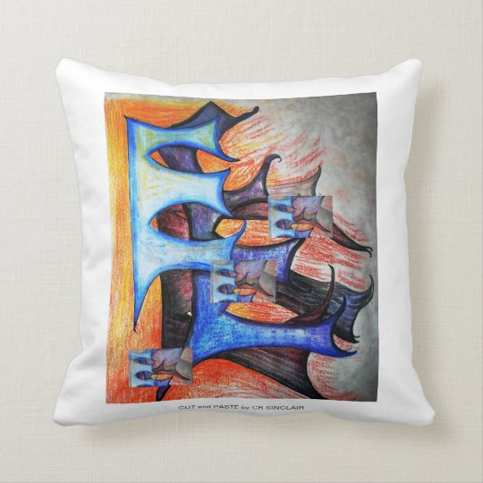 CUT and PASTE pillow by CR SINCLAIR