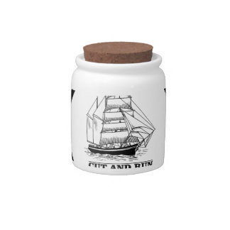 cut and run candy jar