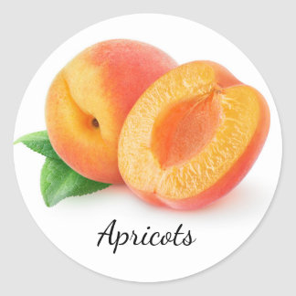 Cut apricots classic round sticker