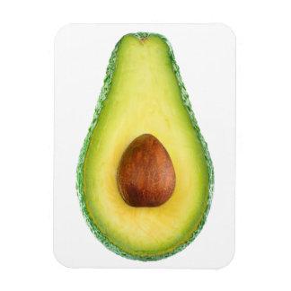 Cut avocado fruit rectangular photo magnet
