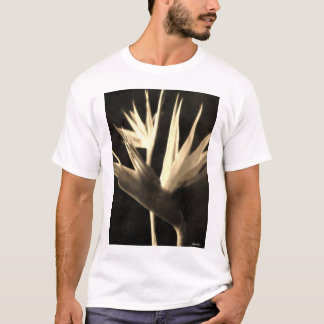 Cut Bird of Paradise Flowers 1 Antiqued T-Shirt
