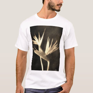 Cut Bird of Paradise Flowers 2 Antiqued T-Shirt