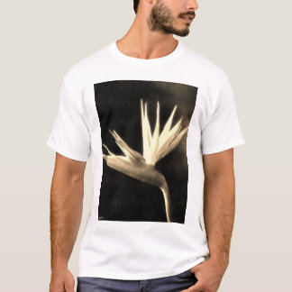 Cut Bird of Paradise Flowers 3 Antiqued T-Shirt