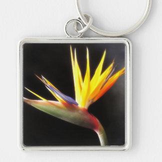 Cut Bird of Paradise Flowers 3 Keychain