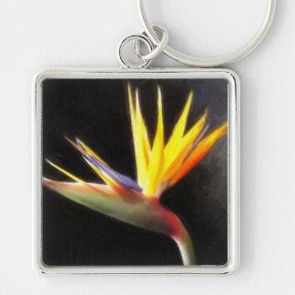 Cut Bird of Paradise Flowers 3 Painterly Keychain
