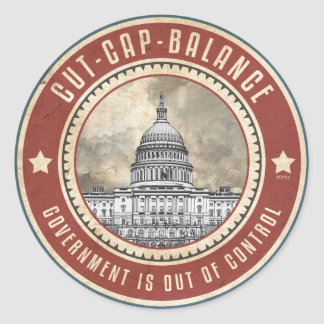 Cut Cap And Balance Classic Round Sticker
