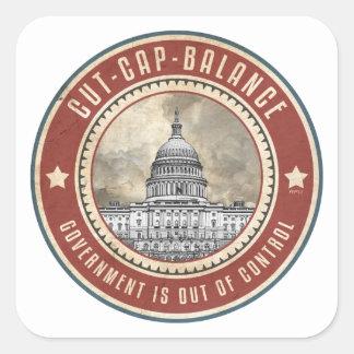 Cut Cap And Balance Square Sticker