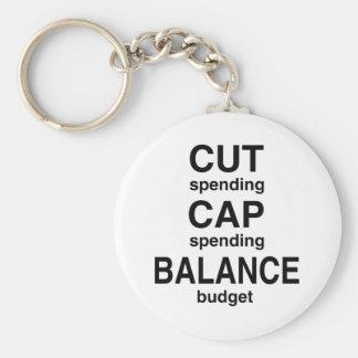 Cut Cap Balance Basic Round Button Keychain