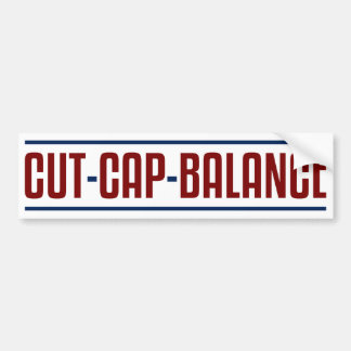 Cut Cap Balance Car Bumper Sticker