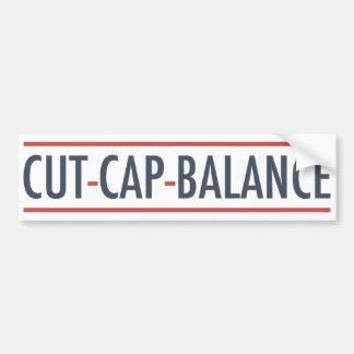 Cut Cap Balance Bumper Stickers