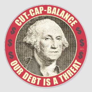 Cut Cap Balance Classic Round Sticker