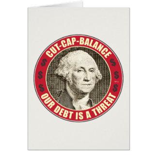 Cut Cap Balance Greeting Card