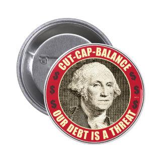 Cut Cap Balance Pinback Buttons