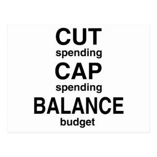 Cut Cap Balance Postcard