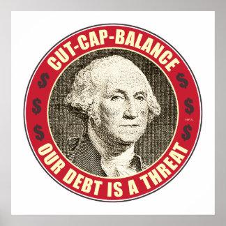 Cut Cap Balance Poster