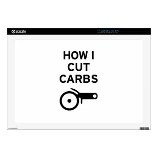 "Cut Carbs 17"" Laptop Decal"