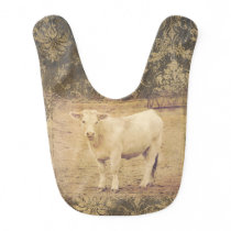 CUT CHAROLAIS COW BABY BIB