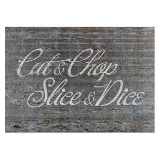 Cut & Chop Slice & Dice Cutting Board