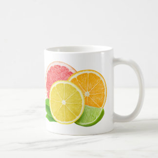 Cut citrus fruits classic white coffee mug