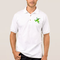 Cut class, not frogs! polo shirt