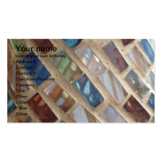 cut colored glass mosaic business card