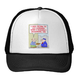 cut corners jackknifed panhandler trucker hat