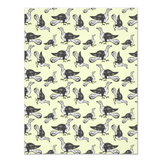Cut Crazy Bird Pattern - Bird Watcher's Funny Card