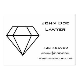 Cut Diamond Line Art, Modern Gemstone Large Business Cards (Pack Of 100)