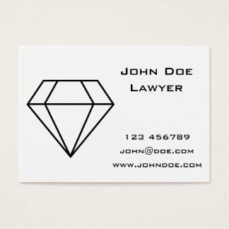 Cut Diamond Line Art, Modern Gemstone Business Card