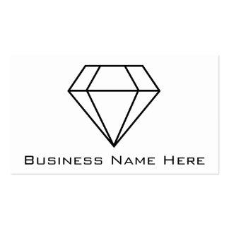 Cut Diamond Line Art, Modern Gemstone Double-Sided Standard Business Cards (Pack Of 100)