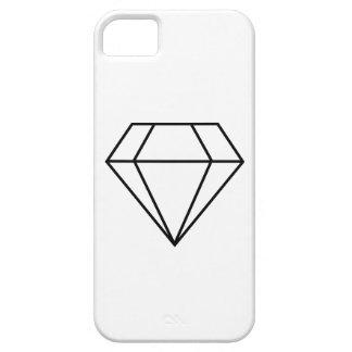Cut Diamond Line Art, Modern Gemstone iPhone 5 Cases