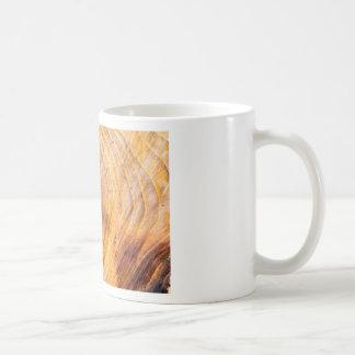 Cut down a tree with annual rings coffee mug