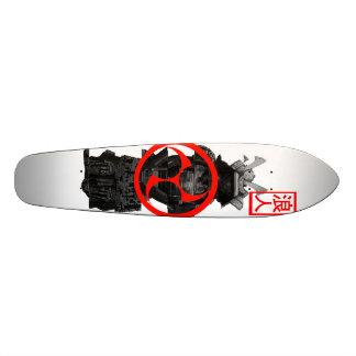 cut down samurai custom skate board