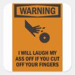Cut Fingers Square Sticker
