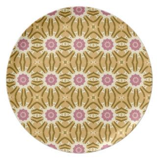 Cut Flowers Floral Plate