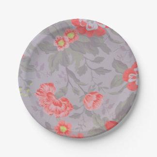 cut flowers paper plate