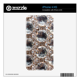 Cut Glass Beads iPhone 4 Decal