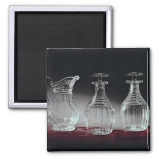 Cut glass decanters and jug, c.1840 2 inch square magnet
