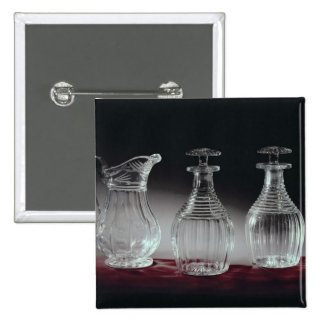 Cut glass decanters and jug, c.1840 button