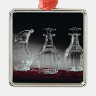 Cut glass decanters and jug, c.1840 metal ornament