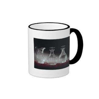 Cut glass decanters and jug, c.1840 ringer mug