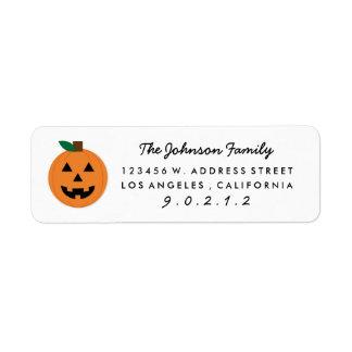 Cut Halloween Pumpkin Home Return Address Labels