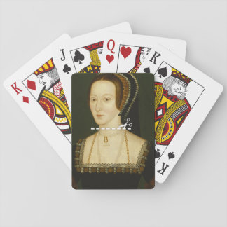 Cut Here - Anne Boleyn Playing Cards