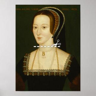 Cut Here - Anne Boleyn Poster