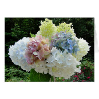 Cut Hydrangea Bouquet Photography Note Card