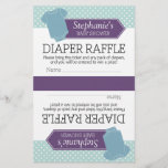 """Cut in Half for 2 Diaper Raffle - Baby Shower Boy<br><div class=""""desc"""">You can include this in the invitation for the guest to bring to the party. A modern and chic design for a mom-to-be.</div>"""