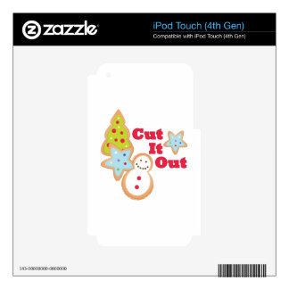 Cut It Out Decals For iPod Touch 4G