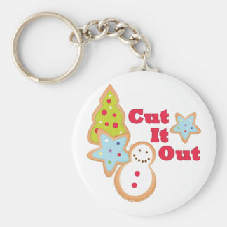 Cut It Out Keychain