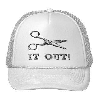 Cut It Out Scissors Mesh Hats