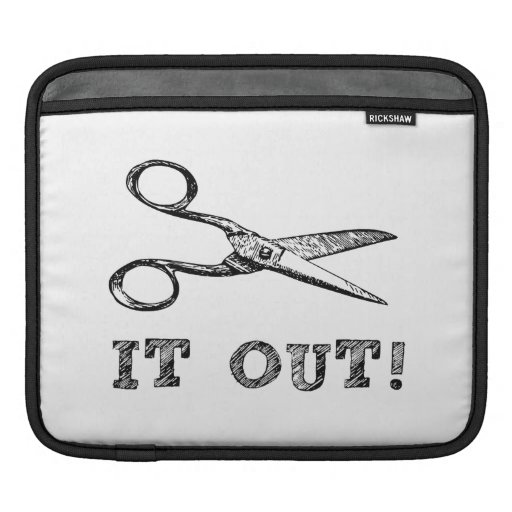 Cut It Out Scissors iPad Sleeves